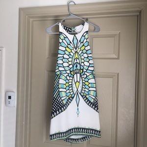 Mosaic A line cocktail dress